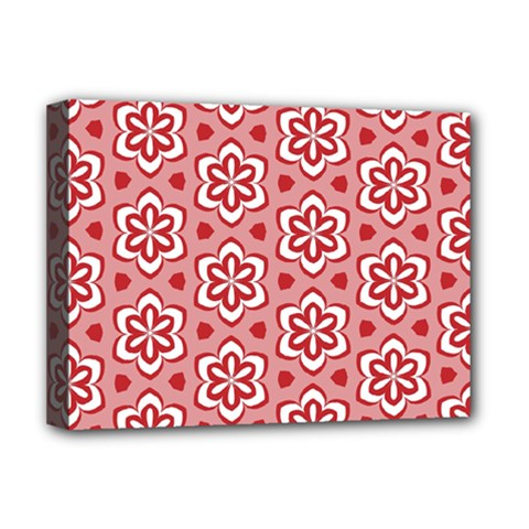 Floral Abstract Pattern Deluxe Canvas 16  X 12