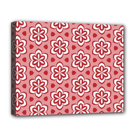 Floral Abstract Pattern Deluxe Canvas 20  X 16