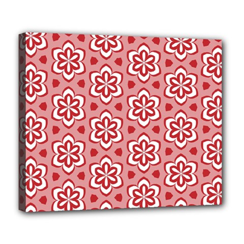 Floral Abstract Pattern Deluxe Canvas 24  X 20