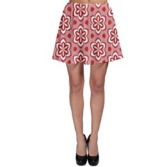 Floral Abstract Pattern Skater Skirt
