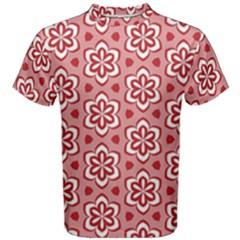 Floral Abstract Pattern Men s Cotton Tee