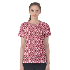 Floral Abstract Pattern Women s Cotton Tee