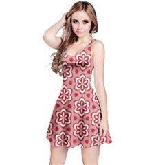 Floral Abstract Pattern Reversible Sleeveless Dress