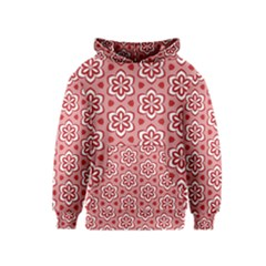 Floral Abstract Pattern Kids  Pullover Hoodie