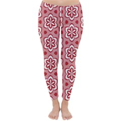 Floral Abstract Pattern Classic Winter Leggings