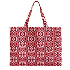 Floral Abstract Pattern Zipper Mini Tote Bag