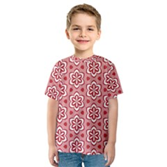 Floral Abstract Pattern Kids  Sport Mesh Tee