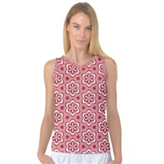 Floral Abstract Pattern Women s Basketball Tank Top