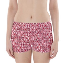 Floral Abstract Pattern Boyleg Bikini Wrap Bottoms