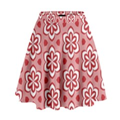 Floral Abstract Pattern High Waist Skirt