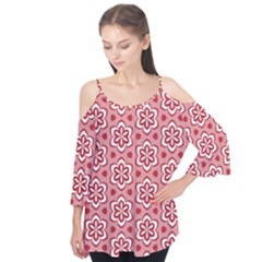 Floral Abstract Pattern Flutter Tees