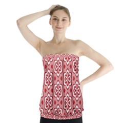 Floral Abstract Pattern Strapless Top