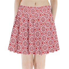 Floral Abstract Pattern Pleated Mini Skirt