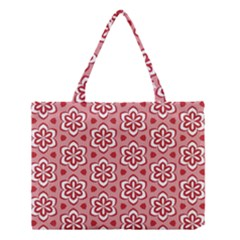 Floral Abstract Pattern Medium Tote Bag