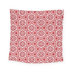 Floral Abstract Pattern Square Tapestry (small)