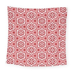 Floral Abstract Pattern Square Tapestry (large)