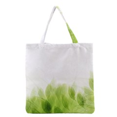 Green Leaves Pattern Grocery Tote Bag