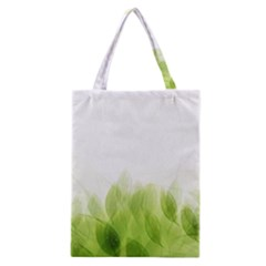 Green Leaves Pattern Classic Tote Bag