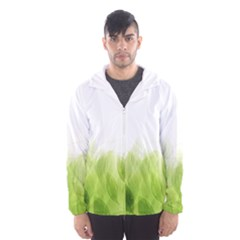 Green Leaves Pattern Hooded Wind Breaker (men)