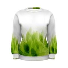 Green Leaves Pattern Women s Sweatshirt