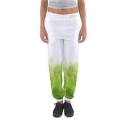 Green Leaves Pattern Women s Jogger Sweatpants