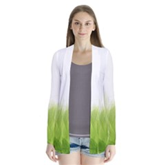 Green Leaves Pattern Cardigans
