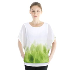 Green Leaves Pattern Blouse