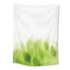 Green Leaves Pattern Medium Tapestry