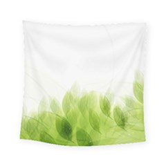 Green Leaves Pattern Square Tapestry (small)