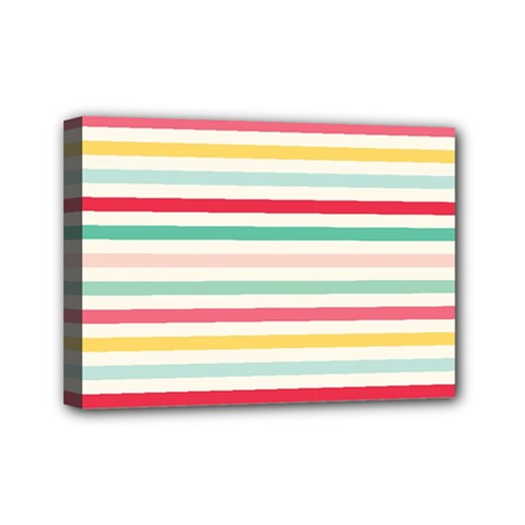 Papel De Envolver Hooray Circus Stripe Red Pink Dot Mini Canvas 7  X 5