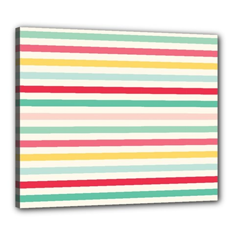 Papel De Envolver Hooray Circus Stripe Red Pink Dot Canvas 24  X 20