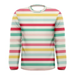Papel De Envolver Hooray Circus Stripe Red Pink Dot Men s Long Sleeve Tee