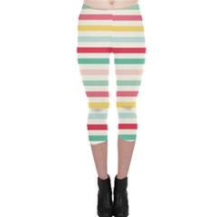 Papel De Envolver Hooray Circus Stripe Red Pink Dot Capri Leggings