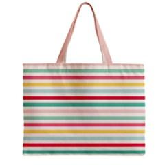 Papel De Envolver Hooray Circus Stripe Red Pink Dot Zipper Mini Tote Bag