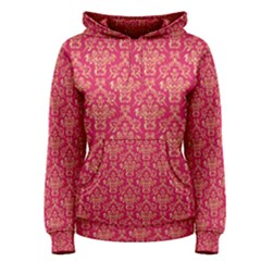 Damask Background Gold Women s Pullover Hoodie