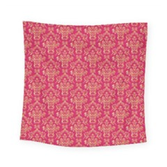 Damask Background Gold Square Tapestry (small)