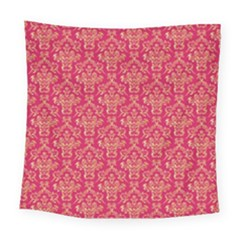 Damask Background Gold Square Tapestry (large)