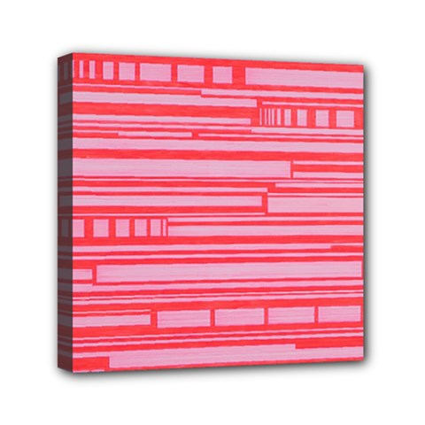 Index Red Pink Mini Canvas 6  X 6
