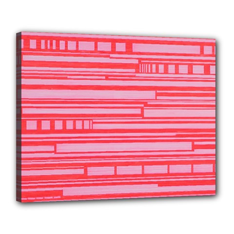 Index Red Pink Canvas 20  X 16