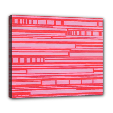 Index Red Pink Deluxe Canvas 24  X 20