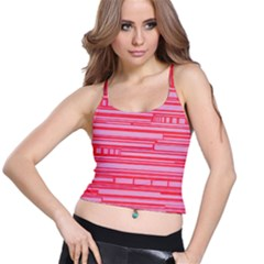 Index Red Pink Spaghetti Strap Bra Top