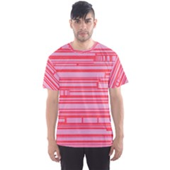 Index Red Pink Men s Sport Mesh Tee