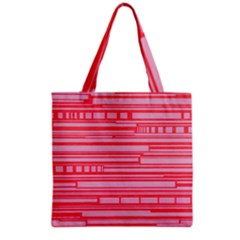 Index Red Pink Grocery Tote Bag