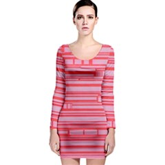 Index Red Pink Long Sleeve Bodycon Dress