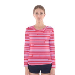 Index Red Pink Women s Long Sleeve Tee