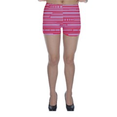 Index Red Pink Skinny Shorts
