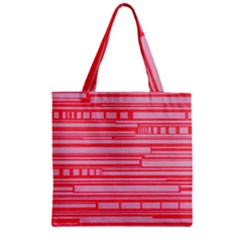 Index Red Pink Zipper Grocery Tote Bag
