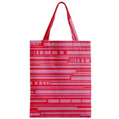 Index Red Pink Zipper Classic Tote Bag