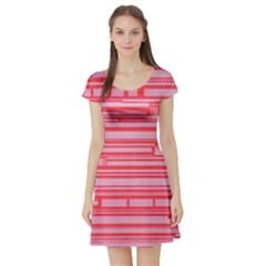 Index Red Pink Short Sleeve Skater Dress