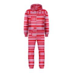 Index Red Pink Hooded Jumpsuit (kids)